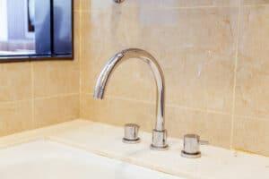 Bath-shower mixer tap on bath.   plumber teaneck
