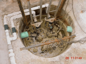 image of a very dirty drainage system