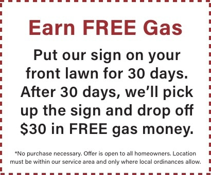 promotion for free gas sign competition