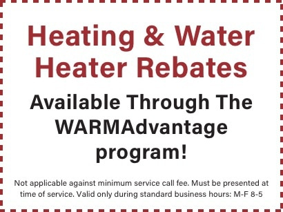 coupon for heating and water heater rebates